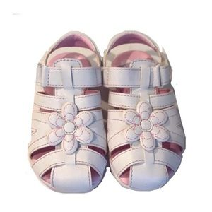 Stride Rite Memory Foam White Sandals